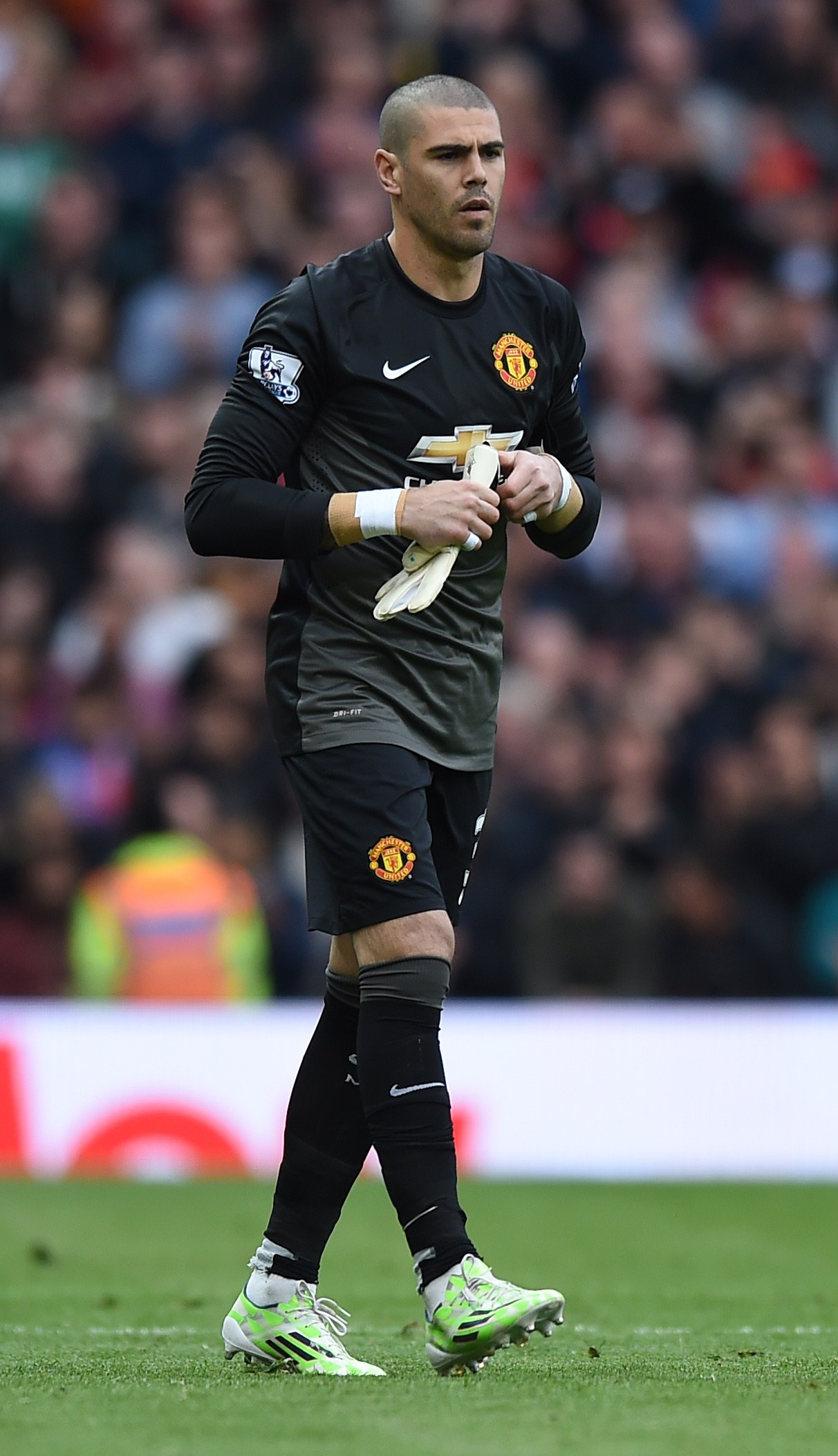 Victor Valdes delighted having made Manchester United debut
